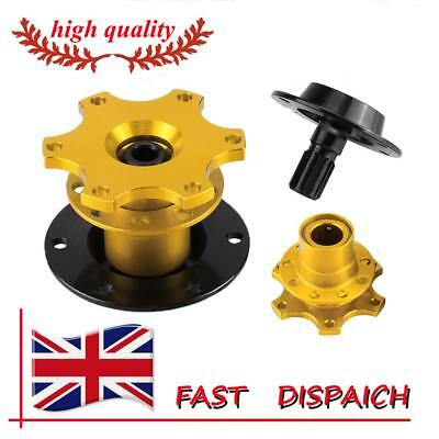 Car Steering Wheel Quick Release Adapter Kit Snap Off Hub Adapter Anti-corrosion • 11.55£