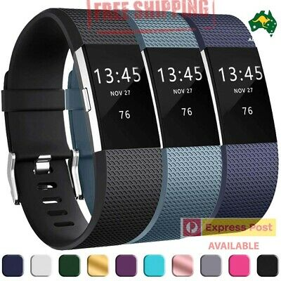 AU3.94 • Buy Replacement Silicone Watch Wrist Sports Band Strap For Fitbit Charge 2 AUSTRALIA