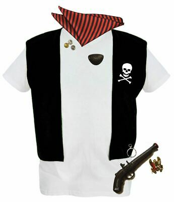 Childrens Pirate 6-pcs Set Captain Jack Sparrow Kids Fancy Dress Costume • 10.95£