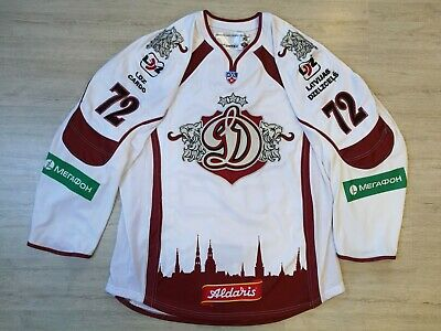 Creative Khl Dinamo Dynamo Riga Game Worn Latvia Latvija Ice Hockey Jersey #70 Indrasis Latest Fashion Fan Apparel & Souvenirs
