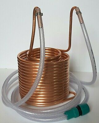 Unique TALL Double Coil Wort Chiller - 15 Metres Of Copper - 2 Metres Of Hose  • 110£