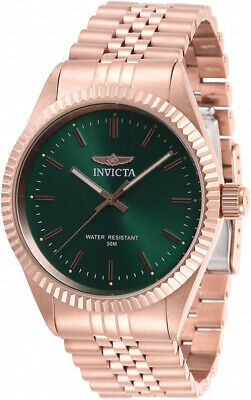 View Details Invicta Men's Specialty Quartz Green Dial Rose Gold Stainless Steel Watch 29391 • 54.99$