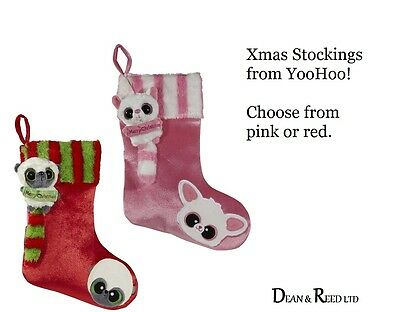 NEW *YooHoo And Friends Christmas Xmas Stockings With Soft Toy By Aurora • 5.95£