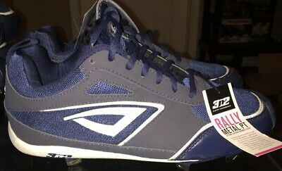 7ae9cab44d4c NEW 3N2 RALLY METAL LOW SOFTBALL CLEATS STEEL Women's SZ 7 Navy/White $79  Retail