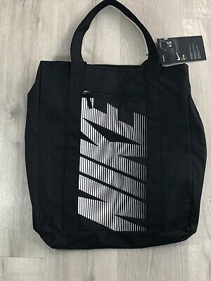 bf50709d2de5 Nike Women GYM Tote Bags Black White Sports Shoulder Training Bag • 45.60