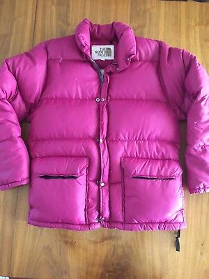 $129.98 • Buy Vtg North Face Brown Label Mens Down Fill  Purple Fuchsia Puffer Jacket XS Coat