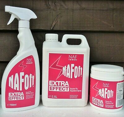 NAF Off Extra Effect For Horses Insect Midge Fly Repellant 750ml 2.5L 750g Gel • 13.95£