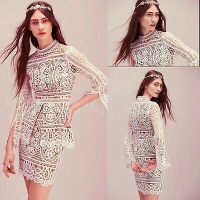 Free People Ministry Of Style Mania Lace White Two Piece Skirt Suit Nwt $440 • 248.91£