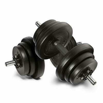 Adjustable Dumbbells Set 20kg Free Weight Weights Barbell Sets Bars Men Dumbells • 64.99£