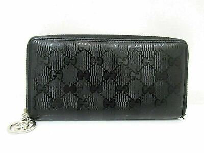 c80d7305f6e Auth GUCCI Implementation Zip Around Long Wallet 307982 Black PVC Leather  62640 • 129.00