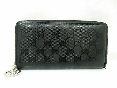 84e5d442c33 Auth GUCCI Implementation Zip Around Long Wallet 307982 Black PVC Leather  62640 • 129.00