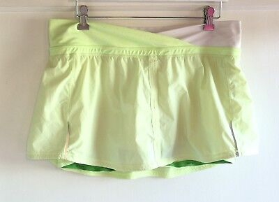 $ CDN67.01 • Buy Lululemon Run Pace Skirt Wagon Stripe Faded Zap Dot Neon Yellow Size 10