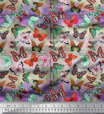 Soimoi Fabric Colorful Butterfly Printed Craft Fabric By The Meter-BT-18D • 7.60£