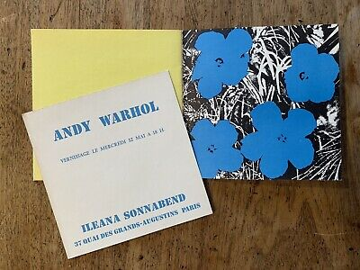 $1999 • Buy Andy Warhol Flowers Exhibition Catalog Original Invitation 1965 Ileana Sonnabend