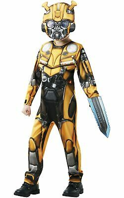 Bumble Bee Transformers Boys Costume Kids Fancy Dress Outift Licensed Dressup • 21.99£
