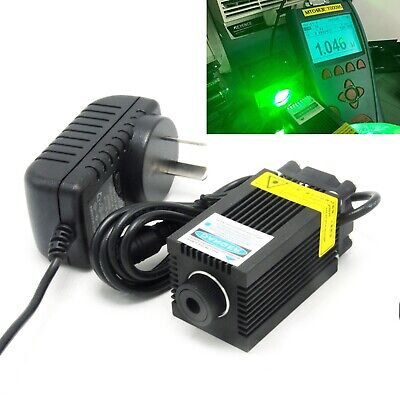 AU224.21 • Buy 515nm 1W Green Focusable Dot Engraving Laser Module 1000mW Diode 12V Adapter
