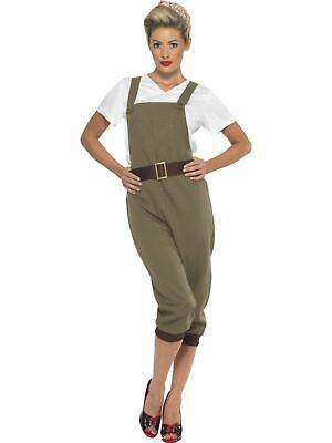 Land Girl Costume 1930s 1940s Ladies Uniform Fancy Dress Outfit Military World W • 23.96£