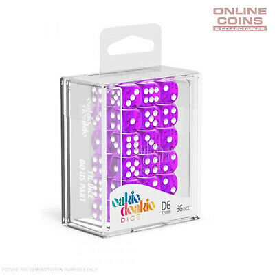 AU14.95 • Buy OAKIE DOAKIE DICE - D6 TRANSLUCENT DICE - Purple Dice 12mm X 36