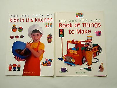 AU15 • Buy 2 X ABC For KIDS Books, BOOK Of THINGS To MAKE + KIDS IN THE KITCHEN GC 2nd Hand