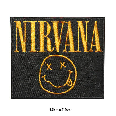 £1.99 • Buy Nirvana Music Band Embroidered Patch Iron On Sew On Badge For Clothes Bags Etc