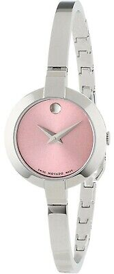 $210.99 • Buy Brand New Movado 0606596 Bela Pink Dial  Stainless Steel Women's Watch