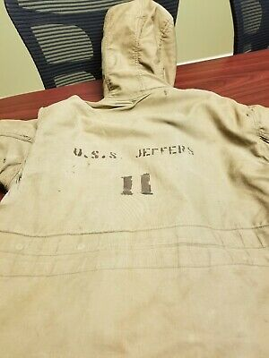 2b4e16bb99 Vintage US Navy N1 Deck Jacket USS Jeffers • 92.00$