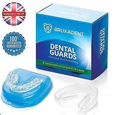 4 X BRUXADENT Dental Mouth Guards For Grinding Teeth, Bruxism Night Guard, TMJ  • 13.99£