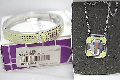 $ CDN33.32 • Buy Lia Sophia PORTAL Necklace & Lemon Drop PIXEL Bracelet Set/Lot NIBWT