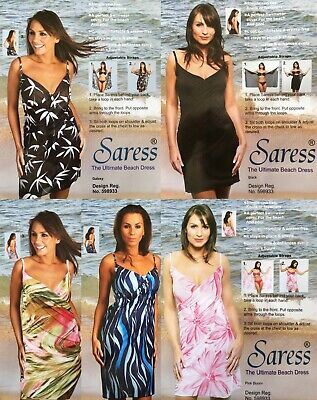 Saress The Ultimate Beach Dress Various Uk 8 10 14 16 Beach Cover Up Swim Sarong • 5.95£