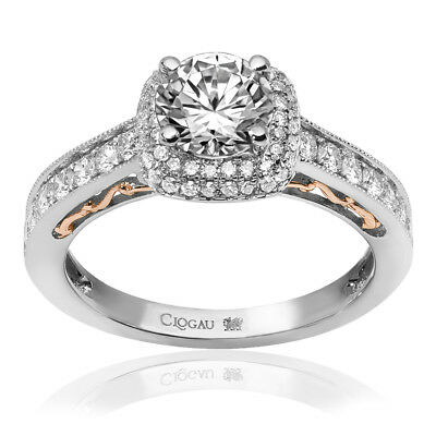 Clogau Compose 18ct White Rose Gold Cecilia Engagement Ring £5640 Off! 1ct • 5,640£