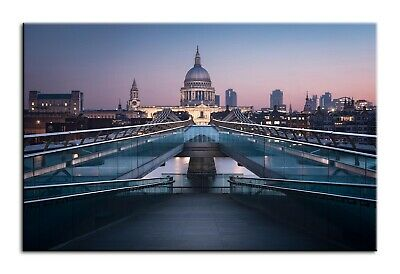 £24.99 • Buy Large Wall Art Canvas Print Of St Pauls Cathedral London Framed