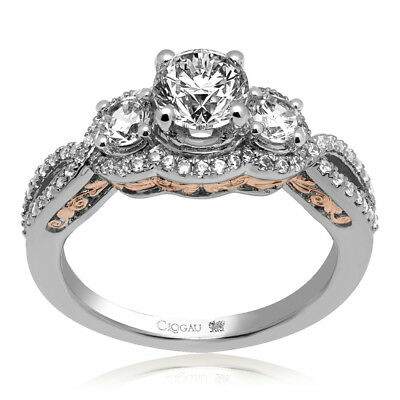 Clogau Compose 18ct White Rose Gold Bella Engagement Ring £6095 Off! 1ct • 6,095£