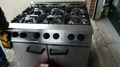 FALCON 6 Burner Natural Gas Cooker Oven Range Commercial Catering Job Lot Export • 650£