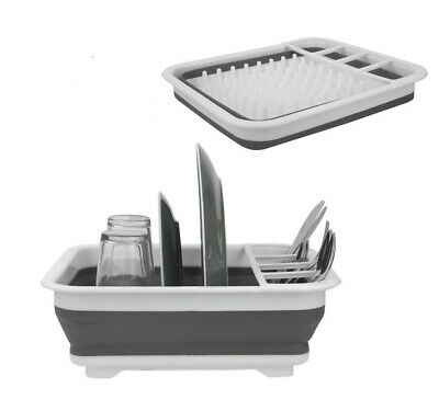 AU21.95 • Buy Collapsible Dish Rack Drainer Drying Portable Cutlery Dryer Space Saving Kitchen