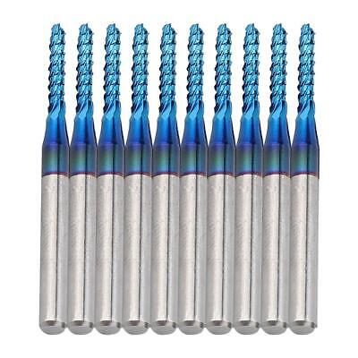 £9.36 • Buy 10pcs Carbide Router Cutting Bit Blue Corn Cutter End Mill For CNC PCB Machinery