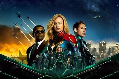 Captain Marvel - Comic Book 2019 Movie Wall Art Large Poster / Canvas Pictures • 17.99£