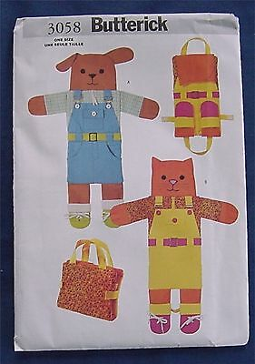$4 • Buy  Sewing Pattern BUTTERICK 3058 TEACH ME PETS BOOK UNCUT DIFFERENT CLOSURES NEW