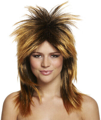 New 80s Rock Diva Wig Blonde Tina Mullet Ladies Fancy Dress Costume Accessory • 7.99£