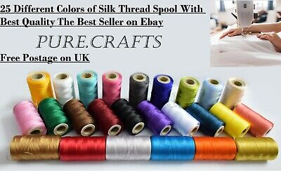 25 Spools Set Sewing Machine Silk Embroidery Threads BROTHER JANOME GUTERMAN • 10.49£