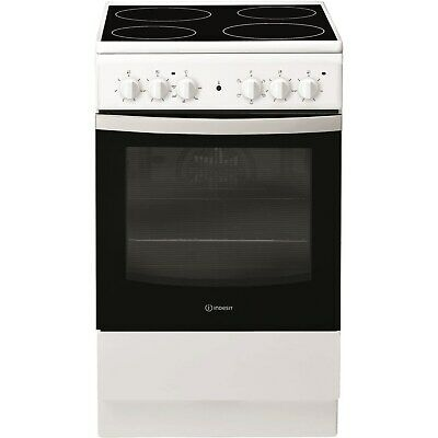 £269.96 • Buy Indesit 50cm Single Oven Electric Cooker With Ceramic Hob - White