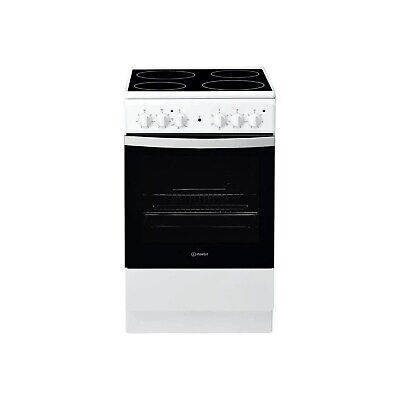 £216.96 • Buy Indesit IS5V4KHW 50cm Single Oven Electric Cooker With Ceramic Hob - White