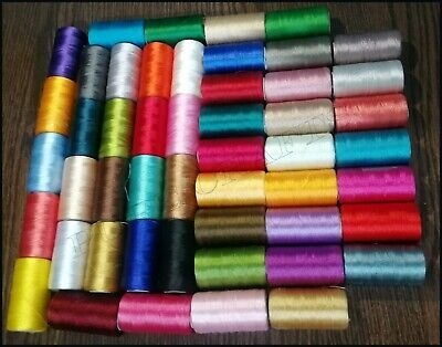 50 Spools Set Sewing Machine Silk Embroidery Threads BROTHER JANOME GUTERMAN UK • 19.37£