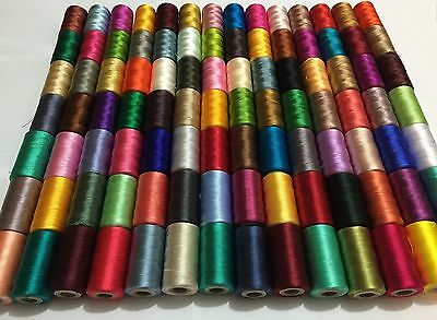 75 Spools Set Sewing Machine Silk Embroidery Threads BROTHER JANOME GUTERMAN UK • 23.89£