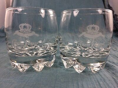 2 Crown Royal Whiskey Rocks Glasses Italy Limited Edition Crown On Pillow Logo • 7.19$