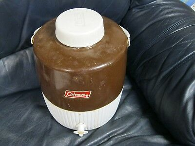 $35.66 • Buy Vintage Coleman Cooler With Spigot Large 1 Gallon Brown Water Jug Thermos Cup