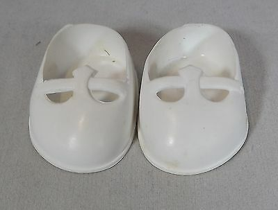 Pair Of Cinderella Doll Debutante Shoes Size 01 - White *One Pair Only* • 4£
