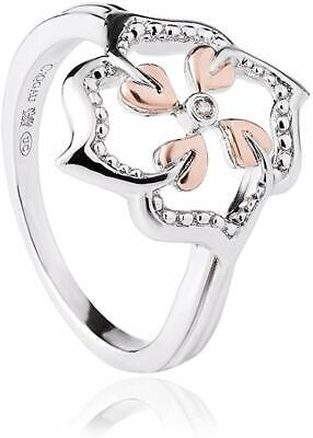 NEW Welsh Clogau Silver & Rose Gold Tree Of Life Flower Ring £70 Off! Size P • 39£