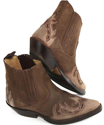 £64.87 • Buy SANCHO 4873 'Mistral' Western Ankle Leather Boots, Brown & Taupe, $299 EU 38