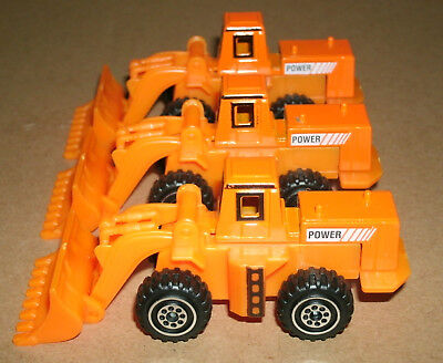 AU7.07 • Buy Three 1/110 Scale Front End Bucket Loader Tractor Plastic And Diecast Toy Models