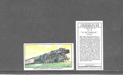 £1.75 • Buy Type Cards: Kellogg - STORY OF LOCOMOTIVES 2ND ( W/OUT 2ND )  VG+ Con.